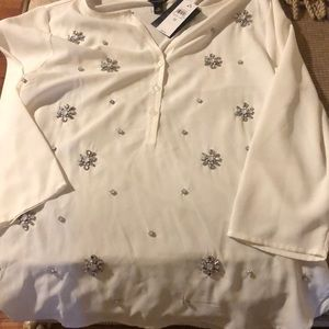 NWT Ann Taylor embellished Top